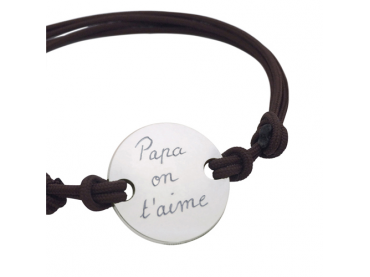 Bracelet personnalisé pastille