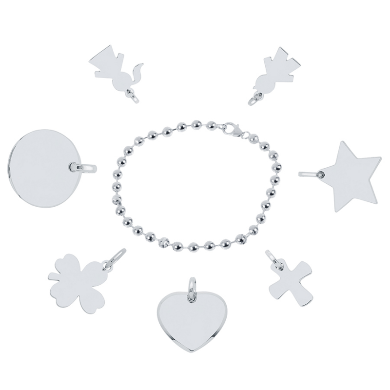 Bracelet perlé argent