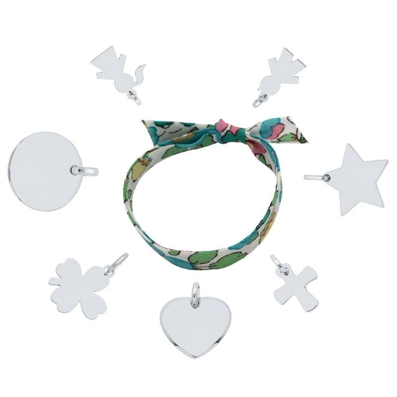 Bracelet Liberty charms argent