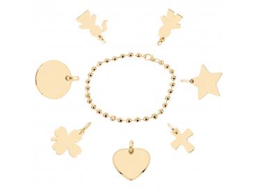 Bracelet perlé plaqué or
