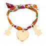 Bracelet Liberty charms plaqué or
