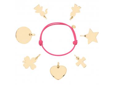 Bracelet charms plaqué or