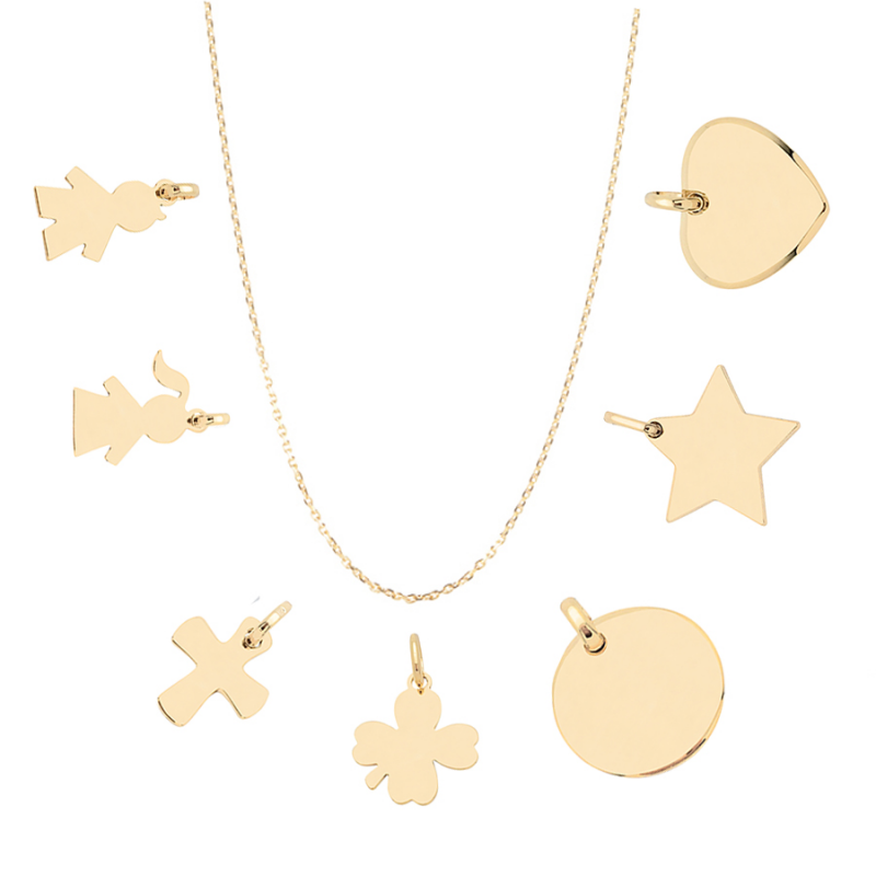 Collier charms plaqué or