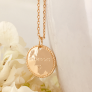 Collier médaille perlée