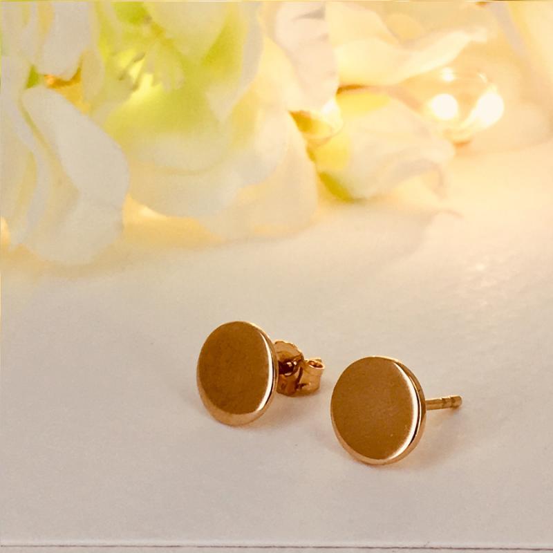 Boucles d'oreilles pastilles en plaqué or