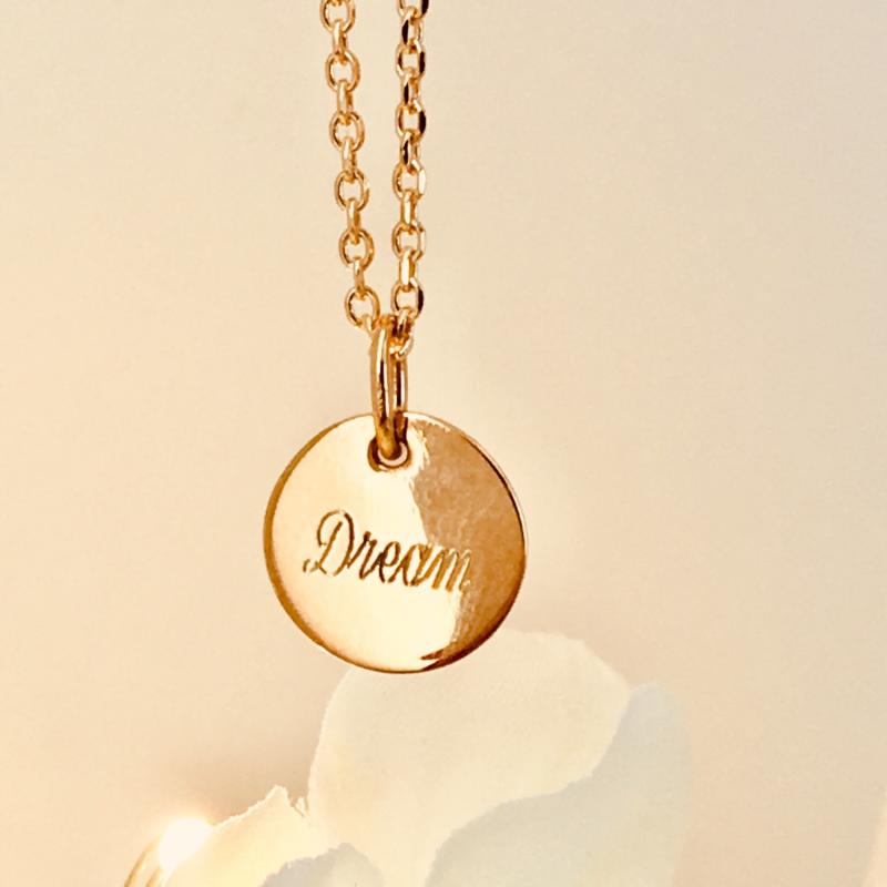 Collier médaille 15 mm