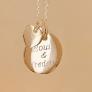 Collier médaille et mini coeur
