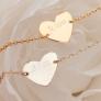 Bracelet coeur sur chaîne