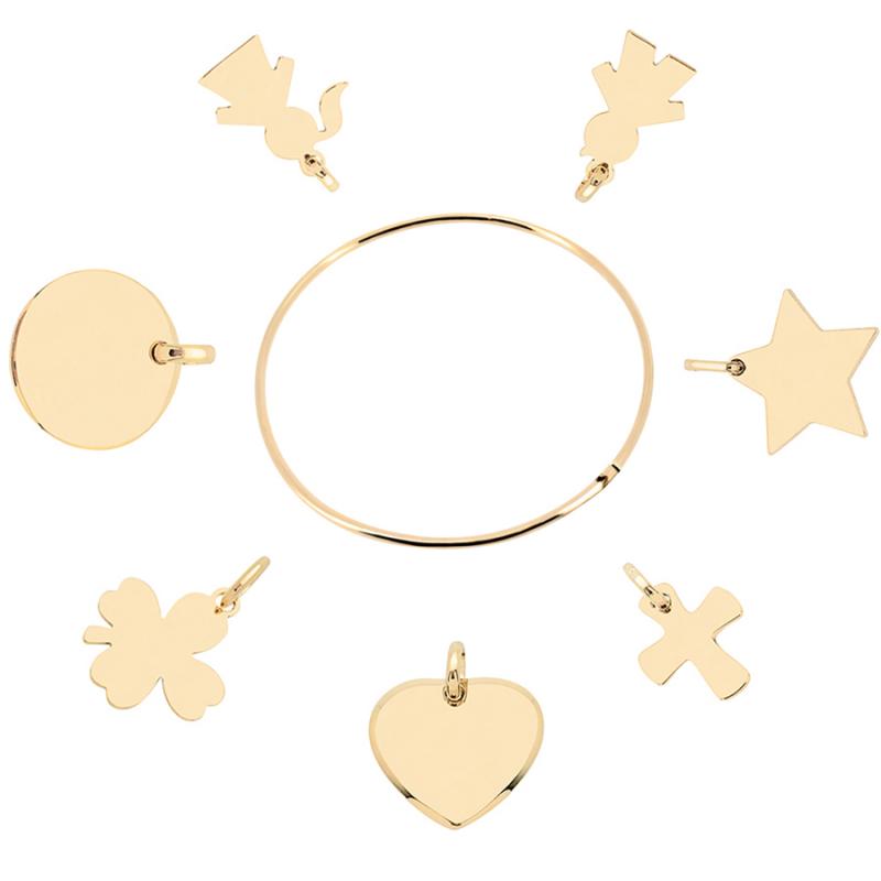 Bracelet chaîne bijou plaqué or 18 carats