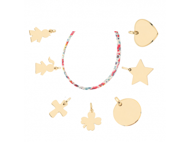 Mon collier Liberty charms plaqué or
