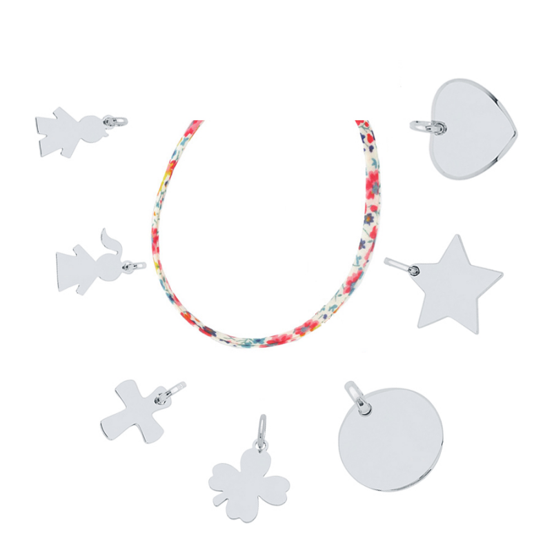 collier Liberty charms argent
