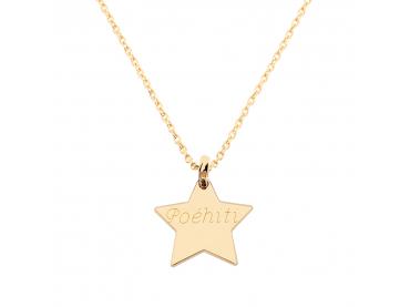 Collier personnalisé étoile