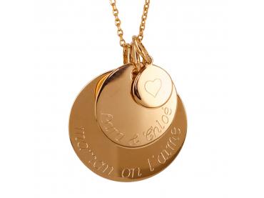 Collier 3 médailles