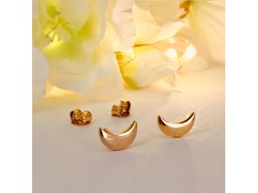 Boucles d'oreilles lunes en plaqué or
