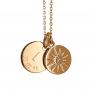 Collier médaille et soleil zirconium