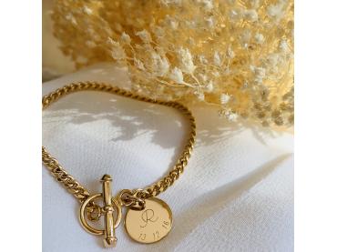 bracelet maille gourmette et fermoir
