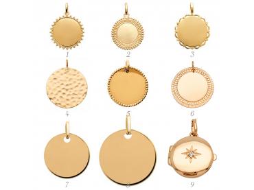 Acheter un médaillon plaqué or