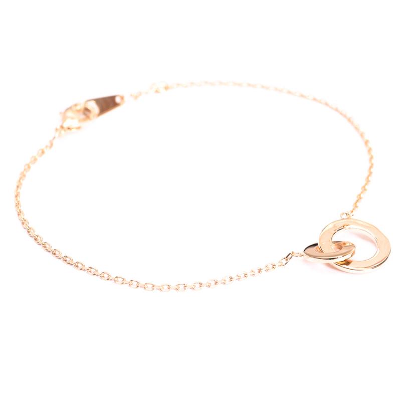 Bracelet anneaux entrelacés