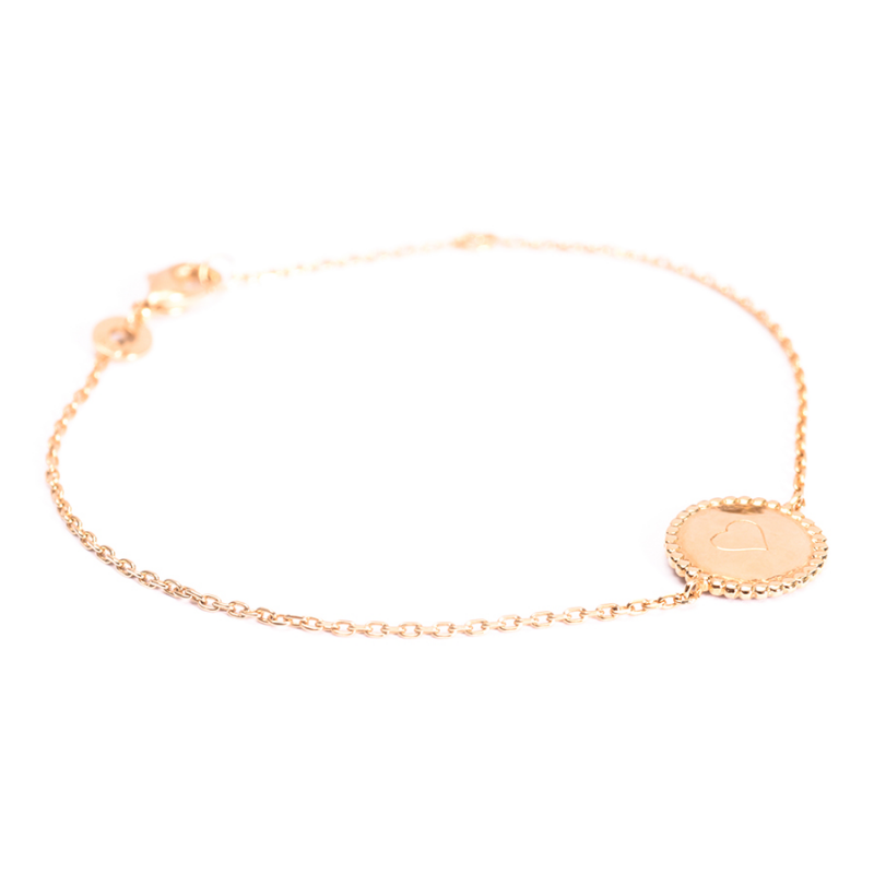 Bracelet médaille perlée