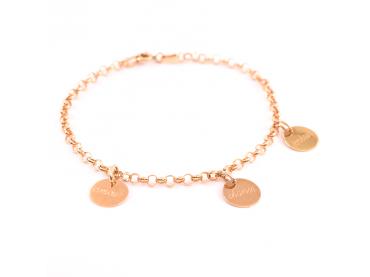 Bracelet chaine jaseron et médaille