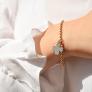 Bracelet personnalisé maille perlée