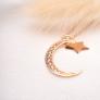 Collier lune & étoile