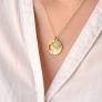 Collier médaille et pierre
