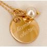 collier médaille et perle