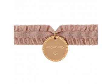 Bracelet médaille sur ruban élastique
