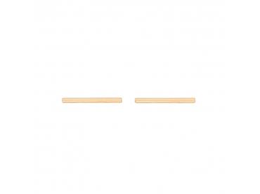 Boucles d'oreilles tiges en plaqué or