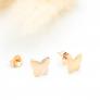 Boucles d'oreilles papillon en plaqué or