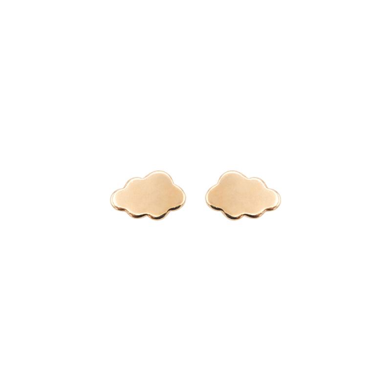 Boucles d'oreilles nuage plaqué or