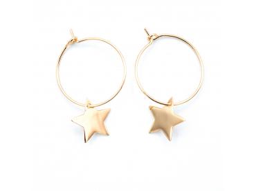Boucles d'oreilles créoles et étoiles isabelle b