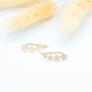 Boucles d'oreilles étoiles filantes en plaqué or