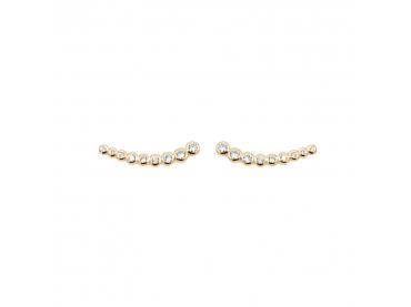 Boucles d'oreilles barrette de zirconiums