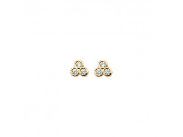 Boucles d'oreilles trio de zirconiums