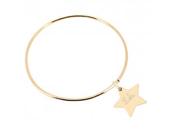 Bracelet enfant jonc étoile gravée