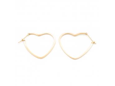 Boucles d'oreilles créoles coeur