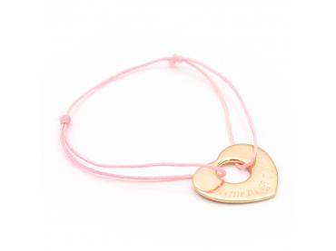 Bracelet personnalisé coeur percé