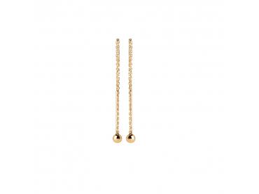 Boucles d'oreilles tige et perle sur chaîne