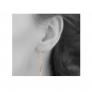 Boucles d'oreilles tige et goutte sur chaîne