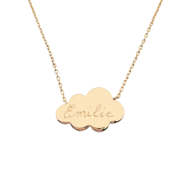 Collier nuage plaqué or