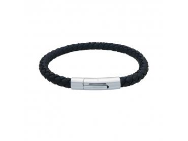 Bracelet cuir tressé rond