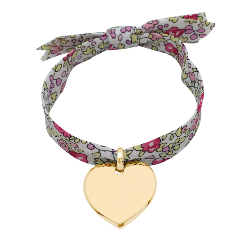 Bracelet coeur sur Liberty pour enfant