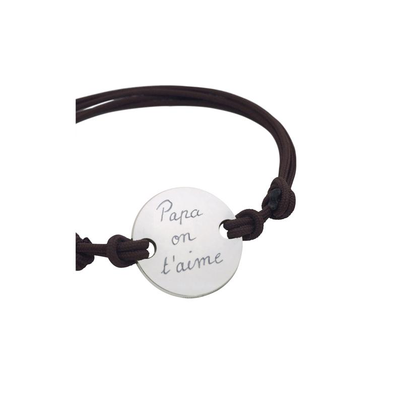 Bracelet personnalisé plaque pour lui
