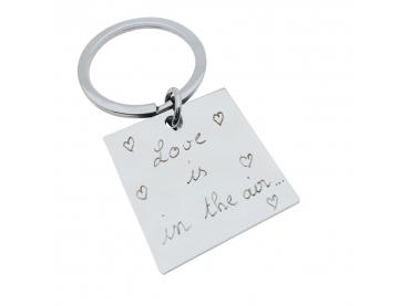 Porte-clés personnalisé carré