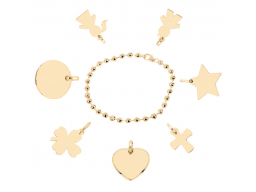 Mon bracelet perlé plaqué or