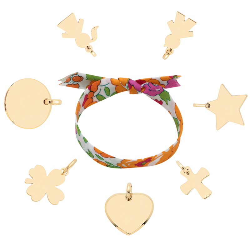 Bracelet Liberty charms plaqué or