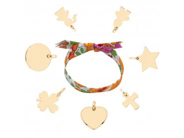 Mon bracelet Liberty et charms plaqué or