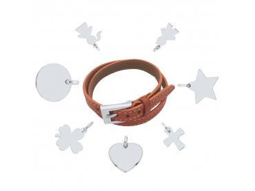 Mon bracelet cuir charms argent